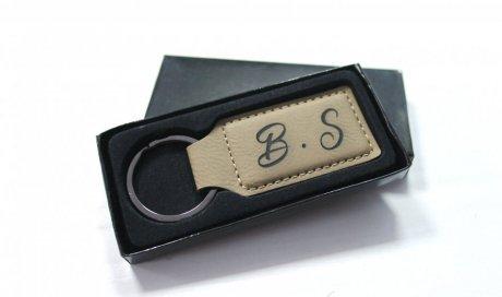 DIAM Laser Gravure sur cuir Lyon, porte clé en cuir gravé & personnalisé