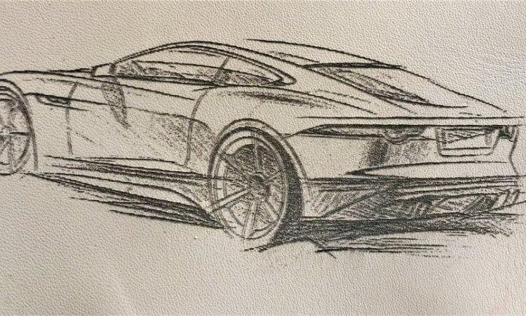 DIAM Laser Gravure sur cuir Lyon, gravure à partir d'un dessin de voiture sur du cuir couleur clair