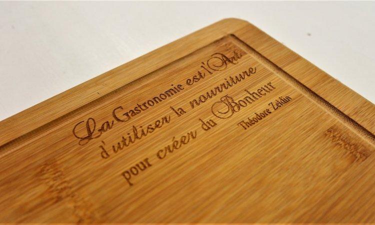 DIAM Laser Gravure sur bois Lyon, planche à découpé personnalisé avec une gravure