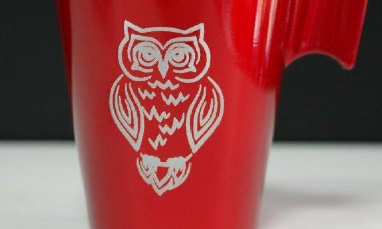 DIAM Laser Gravure sur verre Lyon, tasse à café personnalisés avec une gravure